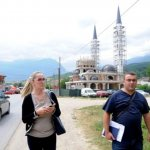 Photo taken in Peja City with my colleague Alban Selimi, we were investigating illegal mosque behind as