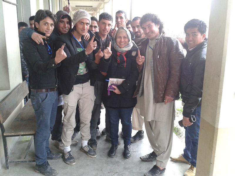 Kabul, durante le elezioni 2014
