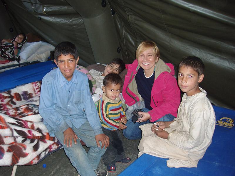 Pakistan, in un campo profughi